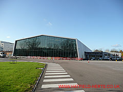 Battle of Britain Hall - hangar style building with glass side