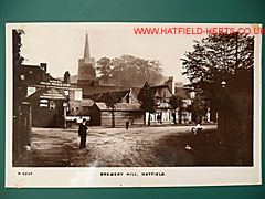 monochrome postcard view of Brewery Hill